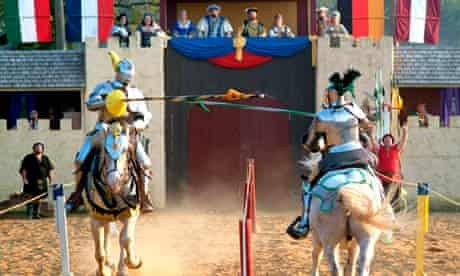 Jousting at a medieval-themed festival in the US