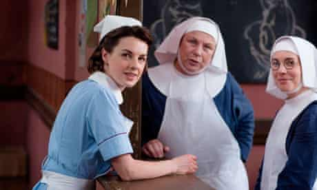 Jessica Raine, Pam Ferris and Laura Main in Call the Midwife
