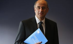 Lord Justice Leveson with his report into press standards
