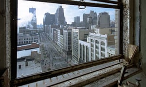 Detroit as seen from one of its abandoned buildings