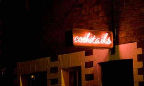 A cocktail bar on a Glasgow side street