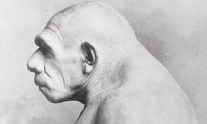 An impression of a Neanderthal man
