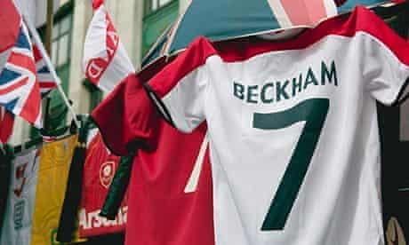 David Beckham football shirt on sale