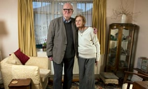 Philip French with 97-year-old Zoë Di Biase at her home in Surbiton.