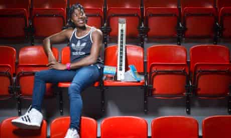 Christine Ohuruogu photographed at Lee Vallley Leisure Complex, London, by Pal Hansen for the Observ