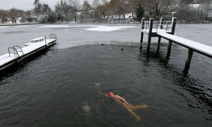 A winter's dip in the men's pond on Hampstead Heath
