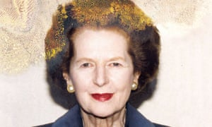 A corrupted portrait of Thatcher from Lisa Barnard's Chateau Despair.