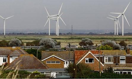 Cheyne Court Wind Farm on Romney Marsh, Kent.