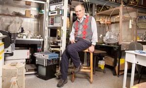 David Colquhoun in his office at UCL.