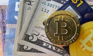 The virtual currency Bitcoin, which last week reached $147 for a single coin.