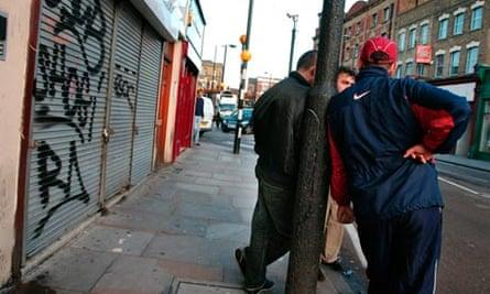 Algerian immigrants in Finsbury Park, north London.
