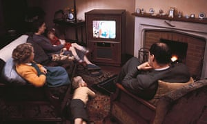 Family Watching TV 1968. Getty