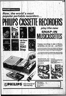An ad for a Philips portable cassette player