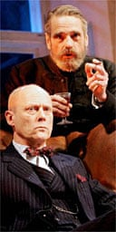 Patrick Malahide and Jeremy Irons in Embers