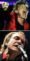 Mick Jagger and Ray Davies