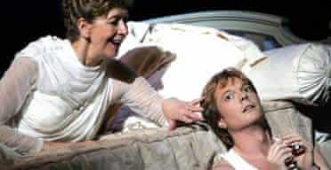 Felicity Lott and Toby Spence in ENO's La Belle Helene