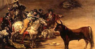 Bullfighting Scene, known as Suerte de Varas, 1824, Oil on canvas, 19 5/8 x 24 in. (50 x 61 cm), The J. Paul Getty Museum, Los Angeles