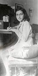 Anne Frank writing in 1941