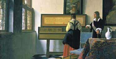 A Lady at the Virginals with a Gentleman by Johannes Vermeer