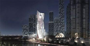 Artist's impression of City Palace,designed by RMJM