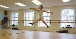 Would-be Billy Elliot, Sam Angell, during a ballet class