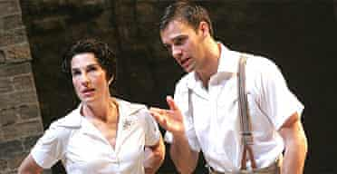Tamsin Greig (Beatrice) and Joseph Millson (Benedick) in Much Ado About Nothing