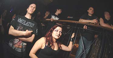 Heavy metal fans watch bands at Deathfest