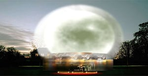 Artist's impression of the Serpentine Pavilion 2006, by Rem Koolhaas