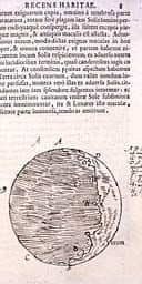An illustration by Galileo from Sidereus Nuncius