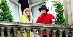 Michael Jackson and Debbie Rowe in 1997