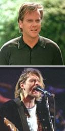 Kiefer Sutherland and Kurt Cobain, Nirvana, 1993