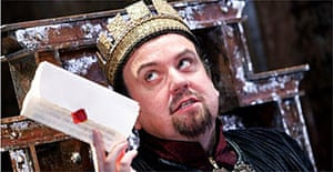 "Richard McCabe acts the title role in ""King John"" at the Swan, Stratford."