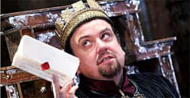 """Richard McCabe acts the title role in """"King John"""" at the Swan, Stratford."""