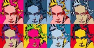 Beethoven (a la Warhol/Marilyn)