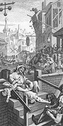 Detail from Hogarth's Gin Lane