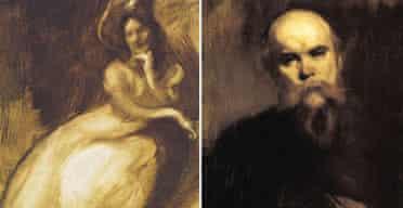 Isadora Duncan c1901, and Paul Verlaine 1890, by Eugène Carrière