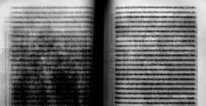 Detail from Idris Khan's Every page ... from Roland Barthes' Camera Lucida