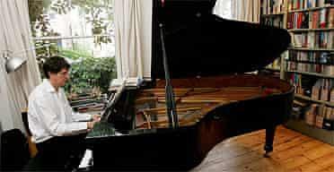 Alan Rusbridger  at the piano