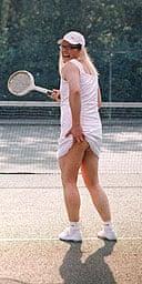 Alan Carr as the tennis girl