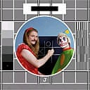 Noel Fielding and Julian Barratt's BBC test card