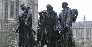 Detail from Rodin's Burghers of Calais