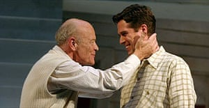 Michael Byrne  and Alexis Denisof in All My Sons