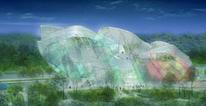 Frank Gehry's project of the Louis Vuitton Foundation for Creation