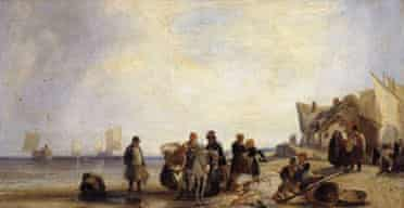 French Coast with Fisherman