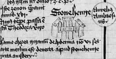 Drawing of Stonehenge in Scala Mundi