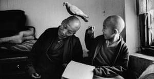 Khentrul Lodro Rabsel with tutor Lhagyel