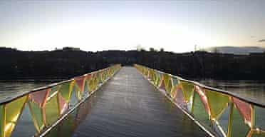 Cecil Balmond's bridge in Coimbra, Portugal