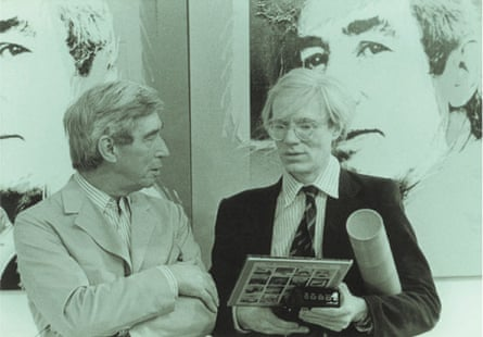 Herge with Andy Warhol