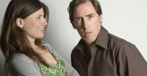 Sharon Horgan with Rob Brydon in Annually Retentive