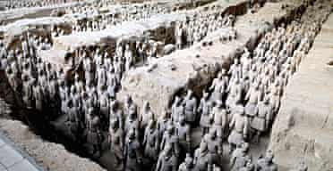 Terracotta warrior army in the tomb of the Emperor Qin Shihuang Di